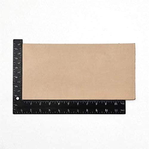 6 x 8 Inch Rectangular Piece NATURAL CALF TOOLING LEATHER for Model Horse Tack
