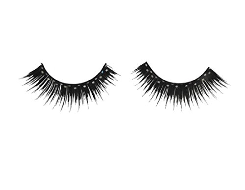 WMU 551111 Deluxe Glitter Eyelashes - Black