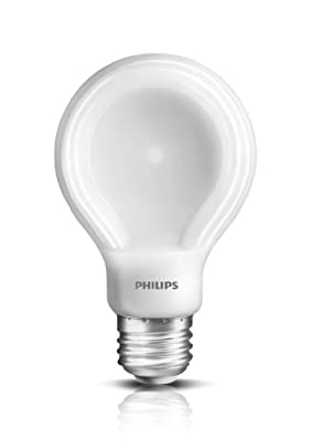 Philips 433201 8-watt SlimStyle A19 Soft White LED Light Bulb, Dimmable