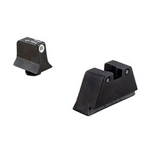 Trijicon Suppressor White Outline Front and Black Rear Night Sight Set for Glock Models (Gr Gates Glasses)