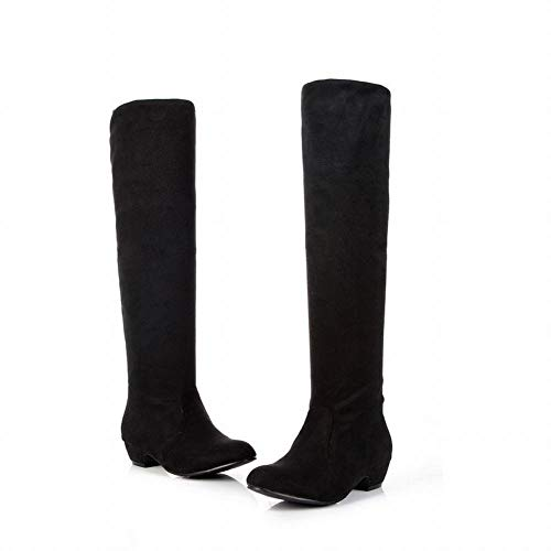 Big 35 Ladies Rising in 35 Size con Ladies Black ginocchio elastica Stivali tela Wsr Boots Boots Ladies stivali Knight Thin 43 dZqIITw