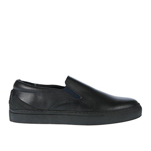 Emporio Armani Heel Logo Cup Sole Slip on Herren Sneaker Schwarz Black