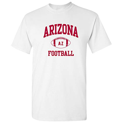 Arizona Classic Football Arch American Football Team T Shirt - Large - White