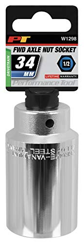 - Performance Tool W1298 34mm Front Wheel Drive Axle Nut Socket