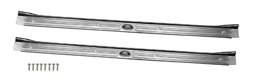 (M-3-3) Compatible With 1967-69 GM Camaro F Body Concourse Factory Riveted Door Sill Plates Fisher Pair
