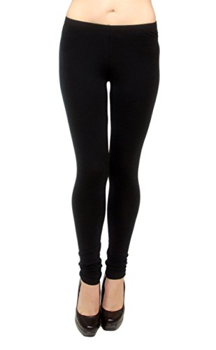 Vivian's Fashions Extra Long Leggings - Cotton, Misses Size (Black, 1X)