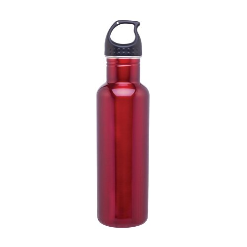 Stainless Steel Water Bottle Canteen - 24oz. Capacity - Red