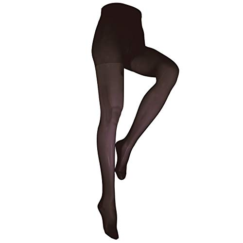 - NuVein Compression Pantyhose Women's 15-20 mmHg Sheer Nylon Hosiery Tights Closed Toe, Black, Medium