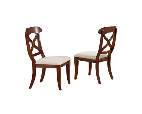 Sunset Trading DLU-ADW-C12-CT-2 Andrews Dining Chair, Distressed Chestnut ()