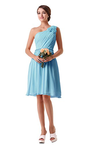 EnjoyBridal - Vestido de noche para mujer azul celeste