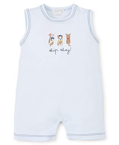 Kissy Kissy Baby-Boys Infant Salty Dogs Print Sleeveless Short Playsuit-Blue-18-24 Months