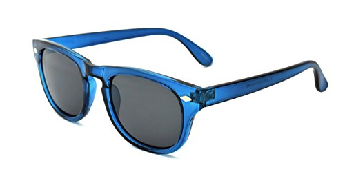 Zoo York Men's Round Sunglasses, Blue Frame, Smoke Lens, - York Zoo Eyewear