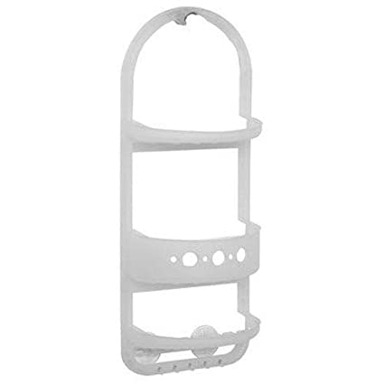 Amazon.com: Plastic Shower Head Caddy Hanger Shampoo Razor Soap Dish ...