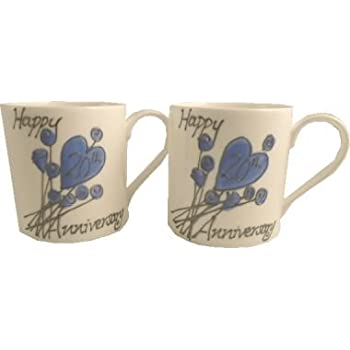 20th (China) Wedding Anniversary Gift China Mugs (Pair)  sc 1 st  Amazon.com & Amazon.com | 20th (China) Wedding Anniversary Gift China Mugs (Pair ...