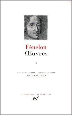 Livre Fénelon : Oeuvres, tome I pdf ebook