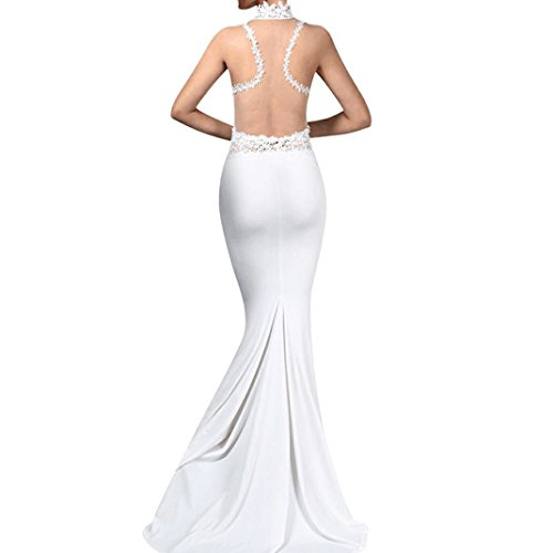 Sera Promenade In Da Da Vestito Abito Sottile Del Donne Sposa Forma Delle Da Vestito Merletto Partito Bianco Blingdeals Di ROvw4nq6w