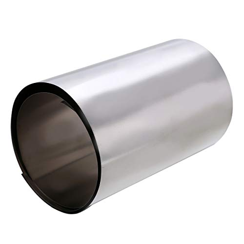 - BIN BON - Titanium Ti Gr2 Thin Plate Silver Metal Square Sheet Foil 0.1x100x500mm with Heat Resistance