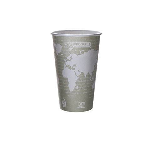 Eco-Products - World Art Renewable Compostable Hot Cups, 16 oz., Case of 1000, EP-BHC16-WA by Eco-Products, Inc