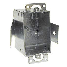 Hubbell 508 Switch Box 3''X2'', 2-1/2'' Deep, Non-Gngable, 1/2'' End Knockout, Old Work Clips - Pkg Qty 20 (508)
