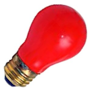 Damar 00336 - 15A15/R 130V 00076B Standard Solid Ceramic Colored Light Bulb