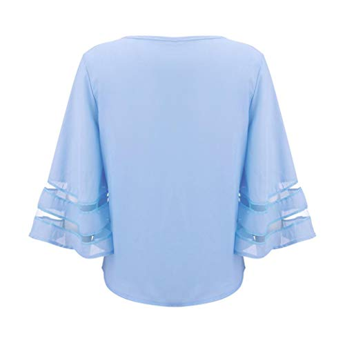 Tunique Femme Women Bleu Kanpola Col Chemise Courtes Animal Manches Italien Chemisier Imprim qgRFE