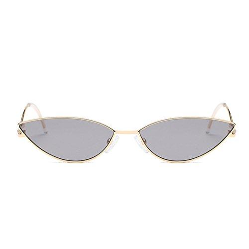 lentille multicolore d'oeil Lunettes petite Fashion Polarisées Gris de forme Modernes mioim femme et soleil en Réfléchissantes UV400 monture chat de 07nTxnp