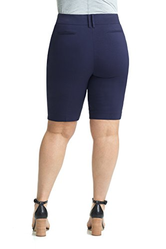 Rekucci Women's Ease In To Comfort Curvy Fit Plus Size Modern City Short (14W,Navy) by Rekucci (Image #2)