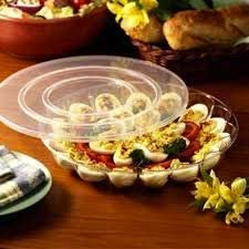 Juego de 2 bandejas de plástico duro para huevos con tapa segura | Bandeja para huevos | Cada bandeja tiene capacidad para 15 huevos | 12 pulgadas (30 cm)