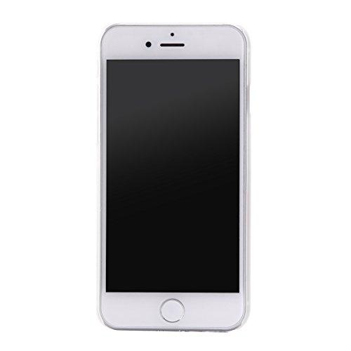 """MOONCASE iPhone 7 Hülle, Ultra Slim Durchsichtig Transparente Hülle Mit weißem Muster Schutzhülle Handyhülle Tasche Schale Case für iPhone 7 4.7"""" - Clear 08"""