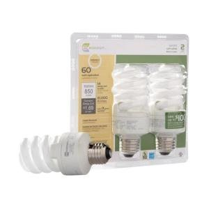 EcoSmart 60W Equivalent Daylight Spiral Dimmable CFL Light Bulb (E)* (Dimmable Spiral Cfl)