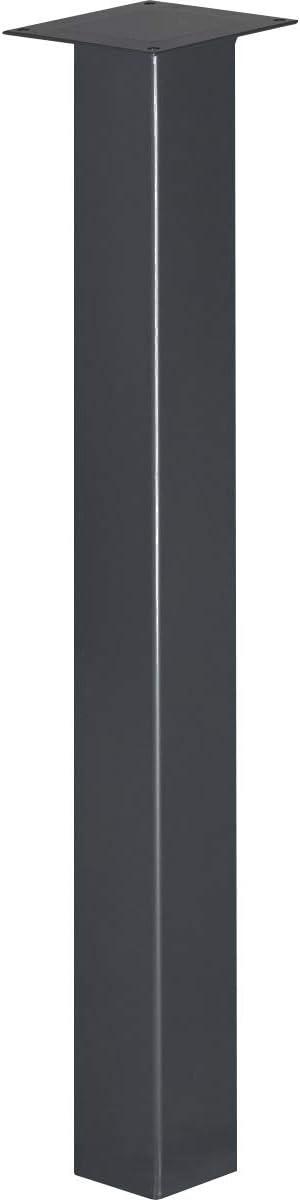 1 Piezas Acero Pulido y Lacado HLT-14A-F-90-0000 Perfil Cuadrado 40x40 mm HOLZBRINK Pata de la Mesa de Acero Altura: 90 cm