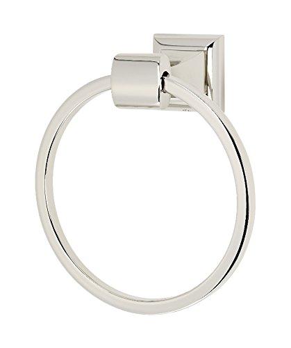 Alno A7440-PN Manhattan Modern Towel Rings, Polished Nickel, 6-1/8