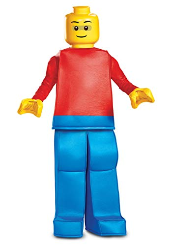 Disguise Lego Guy Prestige Child Costume, Red, Size/(4-6)