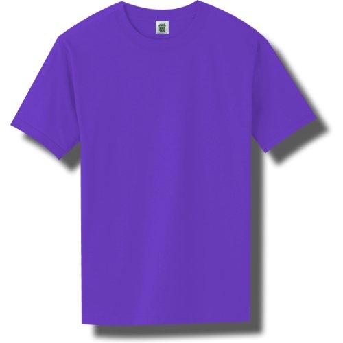Short Sleeve Bright Neon T-Shirt in Neon Purple - Medium