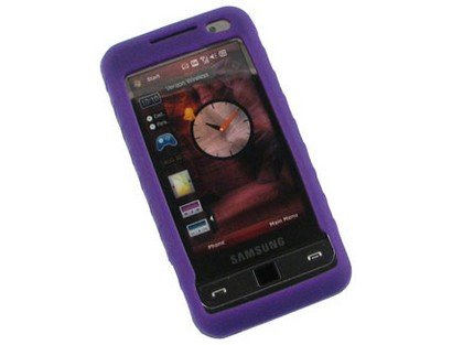 - Silicone Gel Skin Purple Phone Protector Case For Samsung Omnia i910