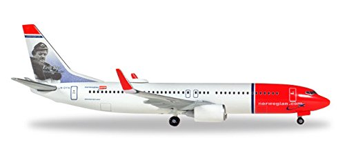 HERPA Wings 529280-001 Norwegian Air Shuttle 737-800 'Erik Bye' 1/500 Scale