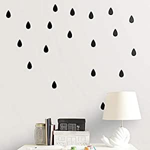Children Room Decoration Raindrops Black And White Carved Generation Wall Stickers