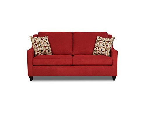Simmons Upholstery Twillo Hide-a-Bed, Full, Blaze Red