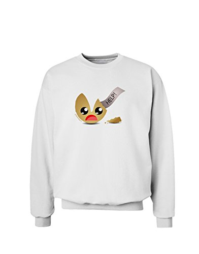 TooLoud Dismembered Fortune Cookie Sweatshirt - White - (White Fortune Cookies)