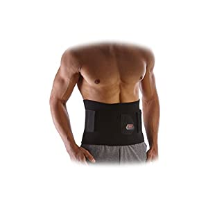 McDavid MD499 Waist Trimmer with Core Support, Black, One Size