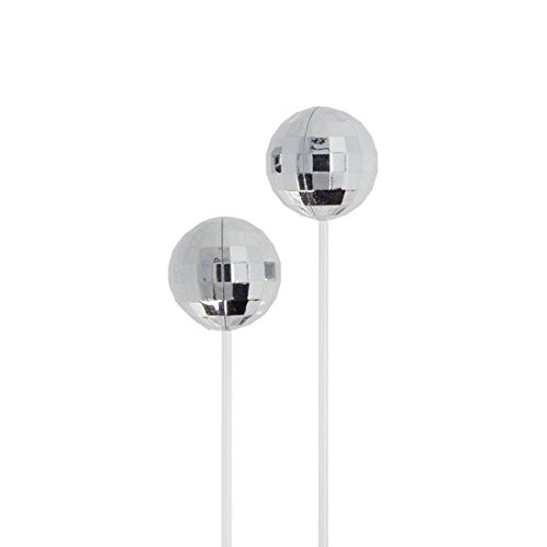 DCI Disco Earbuds: Silver, In-Ear Headphones, White Cord, 3.5mm socket, Smartphone, Laptop, Tablet Compatible
