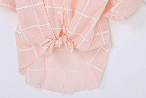 Femme Taille 4 Manches Style Dame Mode Mode Blouse Chemise Moderne Casual Shirts B Dcontract cheron Hipster Grande Vintage Haut Et Revers Pink De Carreaux 3 Jeune lgant Battercake Branch U5w7qw6