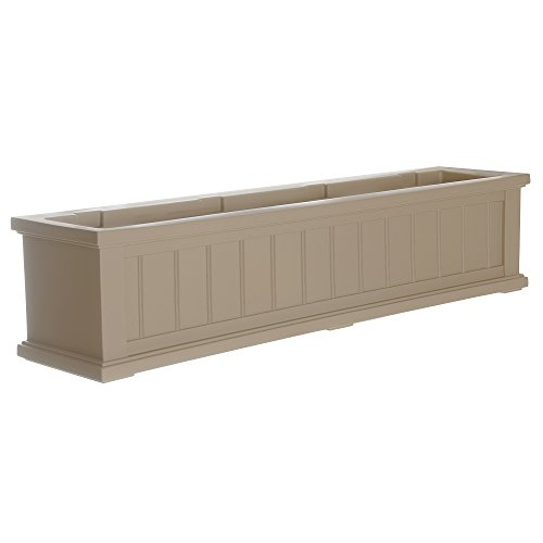 Mayne 4841-C Cape Cod Polyethylene Window Box, 4' , Clay by Mayne