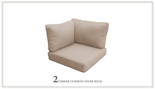 TK Classics Cushions-FLORENCE-02a-WHEAT Cushions Patio Furniture, Wheat