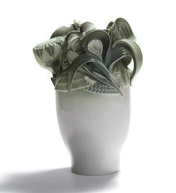 Lladro Porcelain Naturofantastic Small Vase Green by Lladro Porcelain