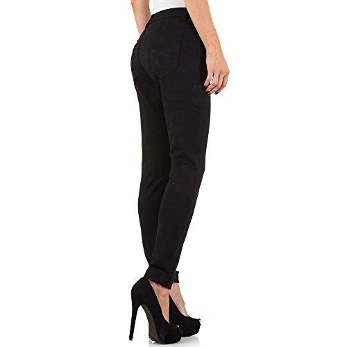 Plus Size Treggings Skinny Hose Für Damen , Schwarz In Gr. 42 bei Ital-