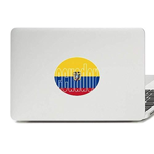 Ecuador Country Flag Name Vinyl Skin Laptop Sticker Notebook Decal