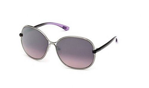 (Tom Ford Leila FT0222 Sunglasses-14Z Shiny Ruthenium (Violet Gradient Lens)-63mm)