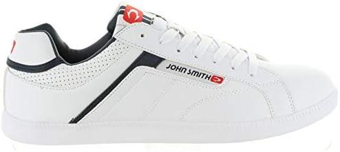 Zapatilla John Smith Cosin 012/004 Blanco/Marino (42 EU): Amazon.es: Zapatos y complementos