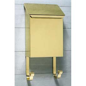 (Provincial Series Vertical Wall Mount Mailbox in Smooth Polished Brass)